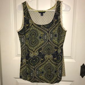 VGUC Tommy Hilfiger mixed print tank Large